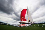 Belle sailing in the Newport Classic Yacht Regatta.