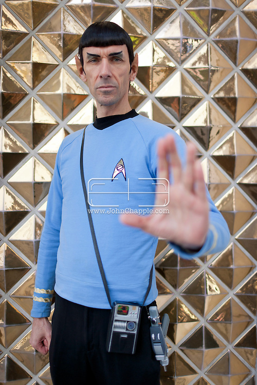 February 20th, 2012, Las Vegas, Nevada. The 21st Annual Reel Awards in Las Vegas where celebrity lookalikes show off their talents. Pictured here is Paul Forest as Spock..PHOTO © JOHN CHAPPLE / www.johnchapple.com.