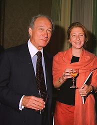 LORD WEINBERG, his daughter MISS SAMANTHA WEINBERG at a party in London on 5th May 1999.MRT 31 2OLO