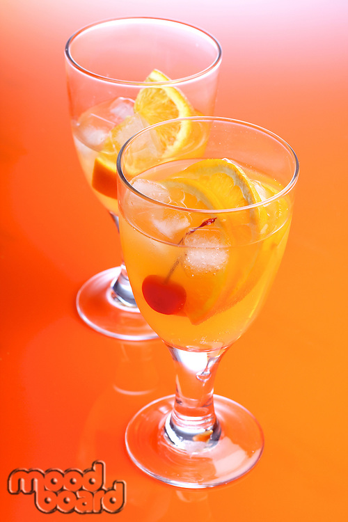 Close up of orange drink