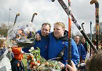 Bloemendaal Dames I Kampioen,. Martijn Verkerk en Jeroen Visser.  COPYRIGHT KOEN SUYK
