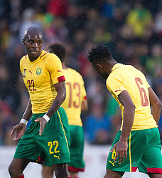 29.05.2014, Kufstein Arena, Kufstein, AUT, FIFA WM, Testspiel, Kamerun vs Paraguay, im Bild v.l.: Nyom Allan (Kamerun), Song Alexandre (Kamerun) // v.l.: Nyom Allan (Kamerun), Song Alexandre (Kamerun) during friendly match between Cameroon and Paraguay for Preparation of the FIFA Worldcup Brasil 2014 at the Kufstein Arena in Kufstein, Austria on 2014/05/29. EXPA Pictures © 2014, PhotoCredit: EXPA/ JFK