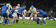 Twickenham, Great Britain, James HASKELL going for the gap during the Six Nations Rugby England vs France, played at the RFU Stadium, Twickenham, ENGLAND. <br /> <br /> Saturday   21/03/2015<br /> <br /> [Mandatory Credit; Peter Spurrier/Intersport-images]