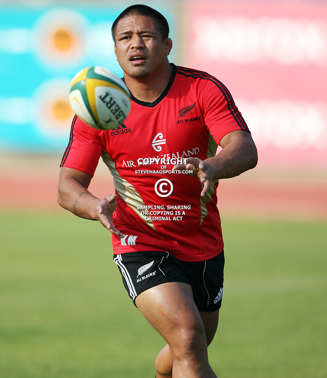 PORT ELIZABETH, SOUTH AFRICA - AUGUST 18, Keven Mealamu during the New Zealand national rugby team training session at Xerox Arena on August 18, 2011 in Port Elizabeth, South Africa<br /> Photo by Steve Haag / Gallo Images