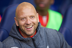 LONDON, ENGLAND - Friday, April 17, 2015: Liverpool's academy mentor Rob Jones before the Under 21 FA Premier League match against Tottenham Hotspur at White Hart Lane. (Pic by David Rawcliffe/Propaganda)