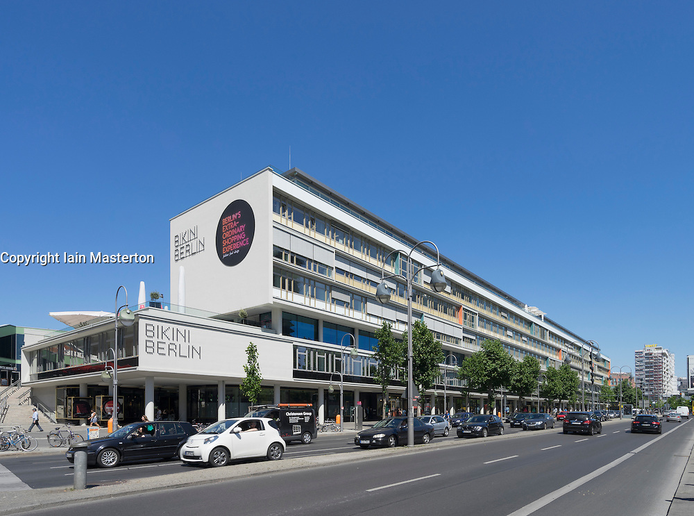 Exterior view of new Bikini Berlin upmarket fashion and design shopping mall in Berlin Germany