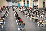 I test di ammissione dell'Università di Torino allestiti al Lingotto con le misure anti-Covid. Torino,Italia - 1 Settembre 2020