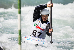 Niko Testen of Slovenia competes in Kayak (K1) Men during International Slalom Kayak-Canoe competition, on May 6, 2018 in Tacen, Ljubljana, Slovenia. Photo by Vid Ponikvar / Sportida