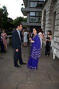 AATISH TASEER; GITA MEHTA, David Campbell and Knopf host the 20th Anniversary of the revival of Everyman's Library. Spencer House. St. James's Place. London. 7 July 2011. <br /> <br />  , -DO NOT ARCHIVE-© Copyright Photograph by Dafydd Jones. 248 Clapham Rd. London SW9 0PZ. Tel 0207 820 0771. www.dafjones.com.