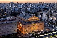 TEATRO COLON Y EDIFICIOS DE LA CIUDAD DE BUENOS AIRES DESDE EL HOTEL PANAMERICANO, ARGENTINA (PHOTO © MARCO GUOLI - ALL RIGHTS RESERVED)