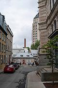 Along Rue des Jardins, Quebec, Canada.