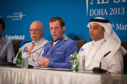 Schroder Gerco (NED) and Al Mannai Omar (QAT) Event director <br /> CHI Al Shaqab - Doha 2013<br /> © Dirk Caremans