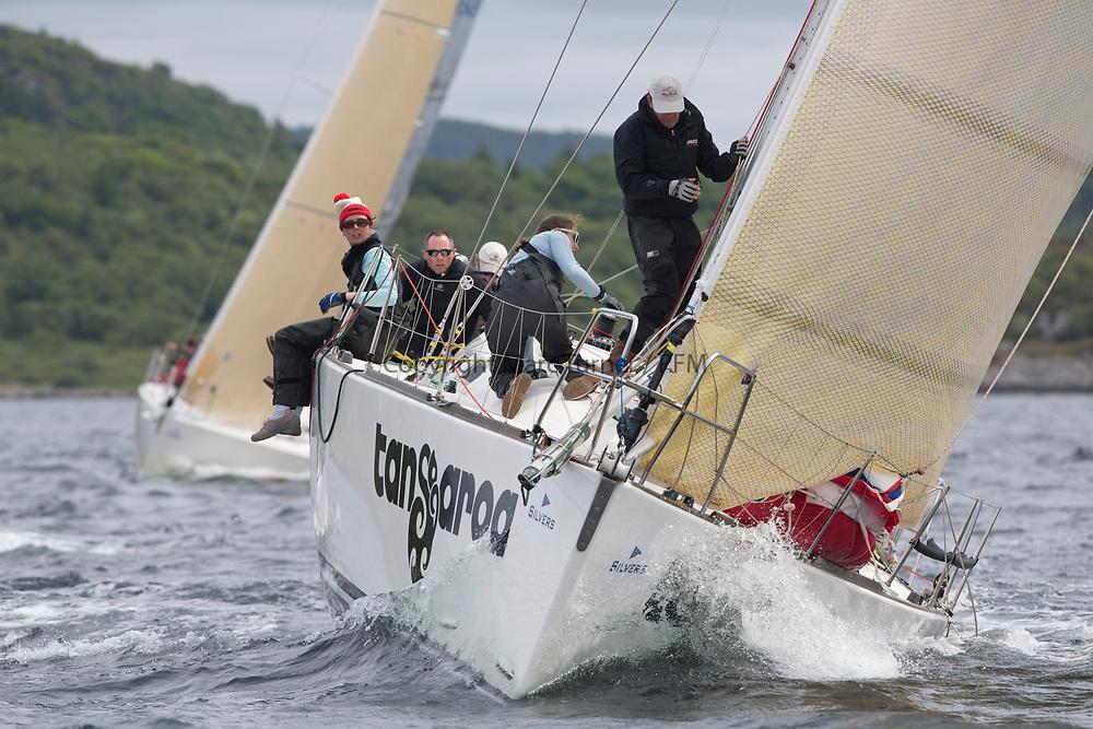 Silvers Marine Scottish Series 2017<br /> Tarbert Loch Fyne - Sailing Day 3<br /> <br /> GBR1121L, Tangaroa, Eliz &amp; Des Balmforth, CCC, Pronavia 38
