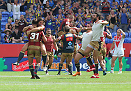 The Catalans Dragons celebrates winning the Ladbrokes Challenge Cup Semi Final match against St Helens at the Macron Stadium Stadium, Bolton.<br /> Picture by Michael Sedgwick/Focus Images Ltd +44 7900 363072<br /> 05/08/2018