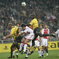 Sol Campbell.<br />Photo: Barry Bland.<br />Ajax v Arsenal. UEFA Champions League.<br />27/09/2005.