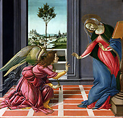 The Annunciation, also known as the Cestello Annunciation, is a tempera painting by the Italian Renaissance master Sandro Botticelli, circa 1489-1490.