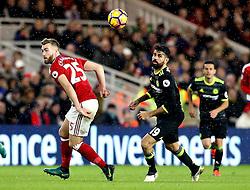 Diego Costa of Chelsea goes past Calum Chambers of Middlesbrough - Mandatory by-line: Robbie Stephenson/JMP - 20/11/2016 - FOOTBALL - Riverside Stadium - Middlesbrough, England - Middlesbrough v Chelsea - Premier League
