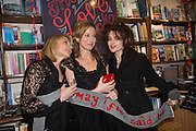 HELEN FIELDING; ALLIE ESIRI; HELENA BONHAM-CARTER, Allie Esiri's The Love Book launch party , Daunt Books <br /> 83 Marylebone High Street, London. 5 February 2014