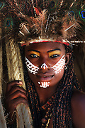 A local actress performing as a Taino woman. Tainos were the inhabitants of the island before Chistopher Columbus arrival. <br /> <br /> Images for editorial, news usages and creative industry. Spanish born photographer based in Punta Cana, Dominican Republic.