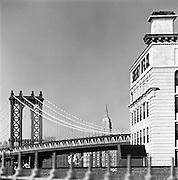 Manhattan Bridge & Empire State Building From The Brooklyn Bridge