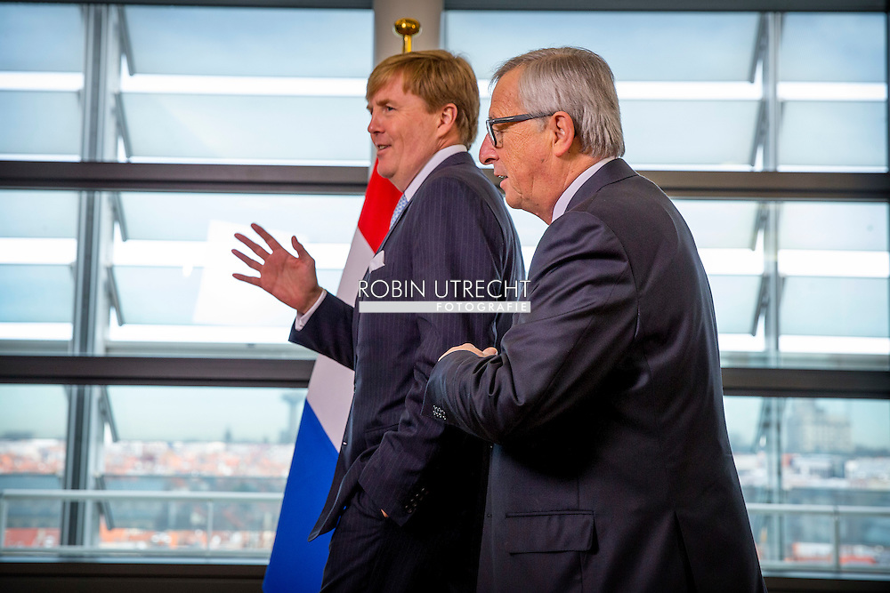 3-11-2015 BRUSSELS - King Willem Alexander  meets  Jean-Claude Juncker, voorzitter van de Europese Commissie. AND FRANS TIMMERMANS   King Willem Alexander visit the European Union in Brussels . COPYRIGHT ROBIN UTRECHT