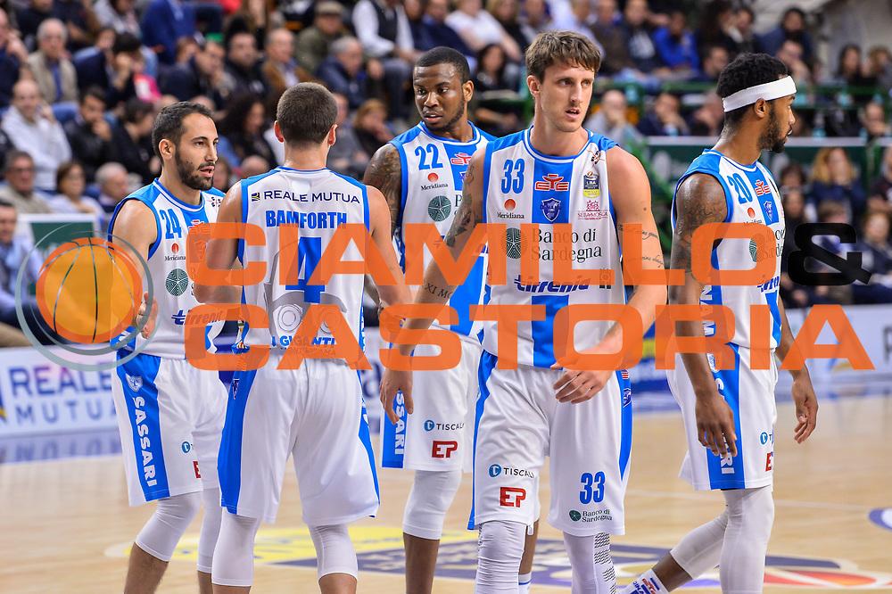 Team Banco di Sardegna Dinamo Sassari<br /> Banco di Sardegna Dinamo Sassari - Olimpia EA7 Emportio Armani Milano<br /> LegaBasket LBA Poste Mobile 2017/2018<br /> Sassari, 29/10/2017<br /> Foto L.Canu / Ciamillo-Castoria