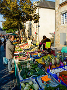 "Rennes, FRANCE.   Saturday Morning Market, ""GV General view of the stalls"",  on display  Brittany. Located.  Marché des Lices Town hall square. Rennes Old quarter, Brittany.<br /> <br /> Saturday  26/09/2009<br /> <br /> © Peter SPURRIER<br /> NIKON - COOLPIX P6000 - 1/220 - f5.1  10.3MB MB"