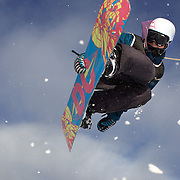 Sebbe De Buck, Belgium, in action during the Men's Half Pipe Qualification in the LG Snowboard FIS World Cup, during the Winter Games at Cardrona, Wanaka, New Zealand, 27th August 2011. Photo Tim Clayton..