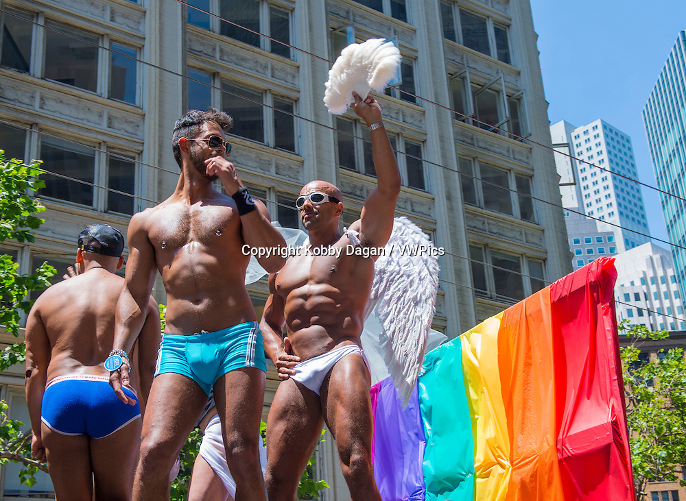participants at the annual San Francisco Gay pride parade