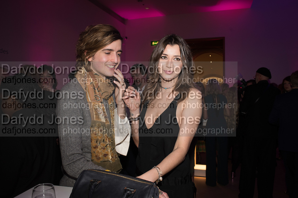 MAX HURD; ELEANOR CALDER, Vogue100 A Century of Style. Hosted by Alexandra Shulman and Leon Max. National Portrait Gallery. London. WC2. 9 February 2016.