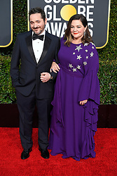 January 6, 2019 - Los Angeles, California, U.S. - Ben Falcone and Melissa McCarthy during red carpet arrivals for the 76th Annual Golden Globe Awards at The Beverly Hilton Hotel. (Credit Image: © Kevin Sullivan via ZUMA Wire)