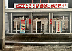 THEMENBILD - Die Demokratische Volksrepublik Korea. Democratic People's Republic of Korea (DPRK), bekannt als Nordkorea, ist ein Staat in Ostasien. Er wurde am 9. September 1948 proklamiert und umfasst den nördlichen Teil der Koreanischen Halbinsel. Nordkorea, obwohl offiziell als Demokratische Volksrepublik bezeichnet, wird diktatorisch regiert und gilt als das weltweit restriktivste politische System der Gegenwart. Hier im Bild Bahnhof // North Korea, officially the Democratic People's Republic of Korea (abbreviated DPRK), is a country in East Asia constituting the northern part of the Korean Peninsula. Pyongyang is the nation's capital and largest city. To the north and northwest, the country is bordered by China and by Russia along the Amnok (known as the Yalu in China) and Tumen rivers it is bordered to the south by South Korea, with the heavily fortified Korean Demilitarized Zone (DMZ) separating the two. Nevertheless, North Korea, like its southern counterpart, claims to be the legitimate government of the entire peninsula. EXPA Pictures © 2018, PhotoCredit: EXPA/ MMO