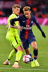 November 2, 2018 - Paris, Ile-de-France, France - Neymar Jr #10 (PSG) passing Xeka #8 (LOSC) during the french Ligue 1 match between Paris Saint-Germain (PSG) and Lille (LOSC) at Parc des Princes stadium on November 2, 2018 in Paris, France. (Credit Image: © Julien Mattia/NurPhoto via ZUMA Press)