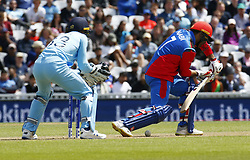 May 27, 2019 - London, England, United Kingdom - Mohammad Nabi of Afghanistan.during ICC Cricket World Cup - Warm - Up between England and Afghanistan at the Oval Stadium , London,  on 27 May 2019. (Credit Image: © Action Foto Sport/NurPhoto via ZUMA Press)