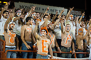 AUSTIN, TX - AUGUST 31: Fans cheer inside Darrell K Royal - Texas Memorial Stadium as the Texas Longhorns host the New Mexico State Aggies on August 31, 2013 in Austin, Texas.  (Photo by Cooper Neill/Getty Images) *** Local Caption ***