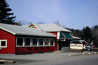 Exterior of US diner on east coast New England.