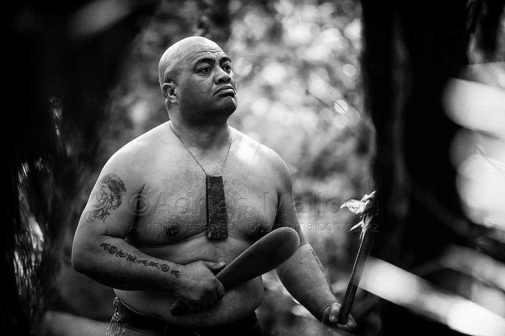 Roger Te Tai prepares for his ta moko; a traditional Māori face and head tattoo.<br /> The ta moko is considered a taonga (treasure) to Māori for which the purpose and applications are sacred.<br /> Every moko contains ancestral/tribal messages specific to the wearer. These messages tell the story of the wearer's family and tribal affiliations, and their place in these social structures.<br /> A moko&rsquo;s message would also contain the wearer&rsquo;s understanding of their personal value, by way of their genealogy as well as the knowledge and responsibilities of their social position.