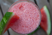 Watermelon Smoothie as seen from above