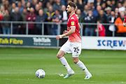Salford City midfielder Joe Jones in action during the EFL Sky Bet League 2 match between Salford City and Cambridge United at Moor Lane, Salford, United Kingdom on 12 October 2019.