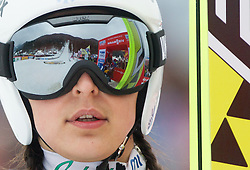 TEPES Anja of Slovenia competes during FIS Ski jumping World Cup Ladies 15th competition Ljubno 2013 on February 17, 2013 in Ljubno ob Savinji, Slovenia. (Photo By Vid Ponikvar / Sportida)