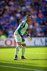CARDIFF, WALES - Sunday, September 2, 2018: Cardiff City's goalkeeper Neil Etheridge during the FA Premier League match between Cardiff City FC and Arsenal FC at the Cardiff City Stadium. (Pic by David Rawcliffe/Propaganda)