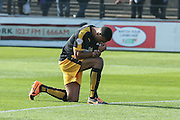 Cambridge United defender Leon Legge  during the Sky Bet League 2 match between York City and Cambridge United at Bootham Crescent, York, England on 3 October 2015. Photo by Simon Davies.