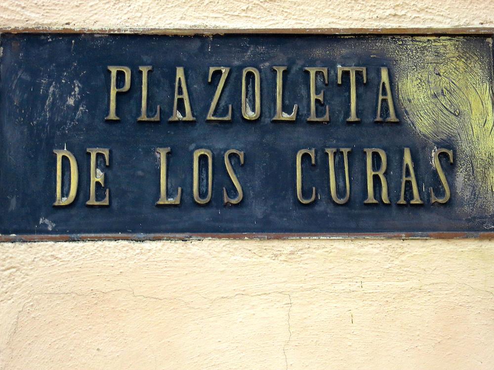 Plazoleta de los Curas, sign typography, Zona Colonial, Santo Domingo, Dominican Republic