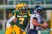 during the Norfolk State - Maine football game at Dick Price Stadium in Norfolk, Virginia.  August 31, 2013  (Photo by Mark W. Sutton)