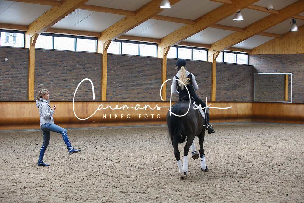 VLP talenten team training met Anky Van Grunsven<br /> Stal Van Grunsven - Erp 2014<br /> &copy; Dirk Caremans