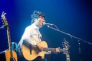 South Korean singer-songwriter Baekja performs during a showcase for his third album at Seongsu art-hall in Seoul, South Korea, September 8, 2016. Photo by Lee Jae-Won (SOUTH KOREA)  www.leejaewonpix.com