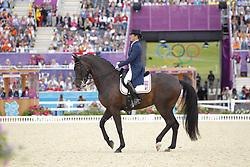 Fassaert, Claudia, Donnerfee<br /> London - Olympische Spiele 2012<br /> <br /> Grand Prix Special, Teamwertung<br /> © www.sportfotos-lafrentz.de/Stefan Lafrentz