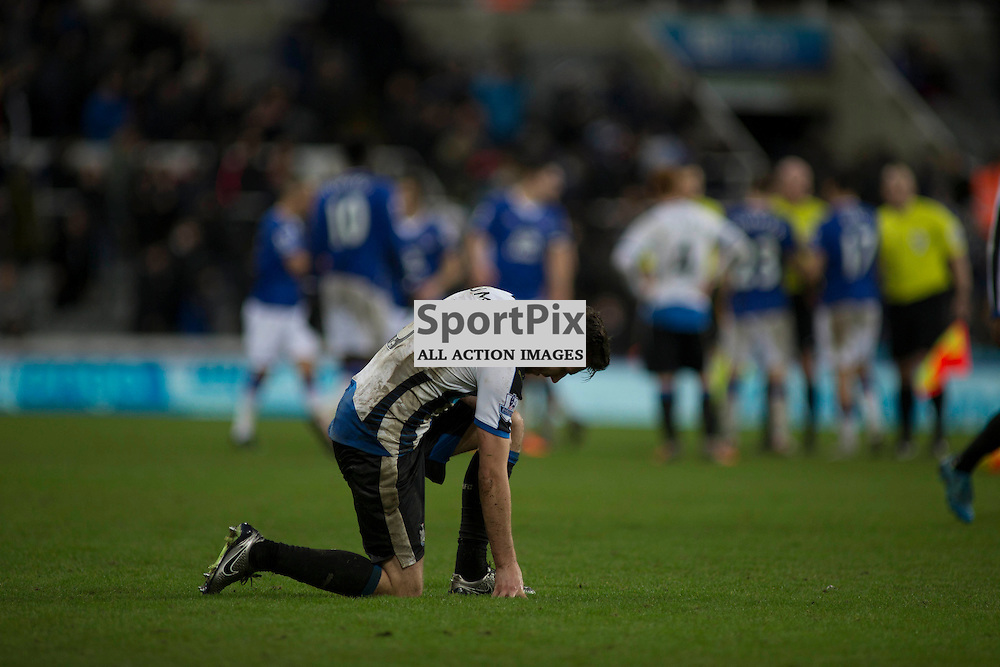 Paul Dummett after the Newcastle v Everton 26 December 2015<br />