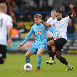 TELFORD COPYRIGHT MIKE SHERIDAN Brendon Daniels of Telford tussles for possession during the Vanarama National League Conference North fixture between AFC Telford United and Boston on Saturday, November 2, 2019.<br /> <br /> Picture credit: Mike Sheridan/Ultrapress<br /> <br /> MS201920-028