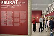 De tentoonstelling Seurat, Meester van het pointillisme in het Kröller-Müller Museum. De tentoonstelling vindt plaats vanwege de viering van het 75-jarig jubileum van het museum. De Franse kunstenaar, kunstschilder George Seurat was de meester van het pointillisme.Foto: Flip Franssen/Hollandse Hoogte